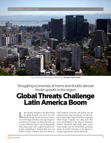 Global Threats Challenge Latin America Boom - Thomson Reuters