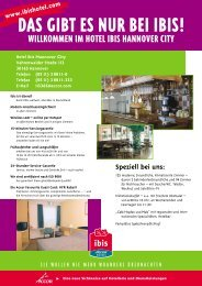 Information about the Hotel ibis - Hannover City - Kulturserver