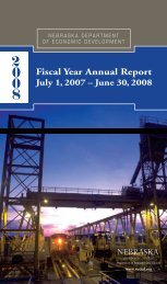 2008 Annual Report - Nebraska Department of Economic ...