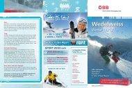Wedelweiss Ticket ÖBB 2011|12