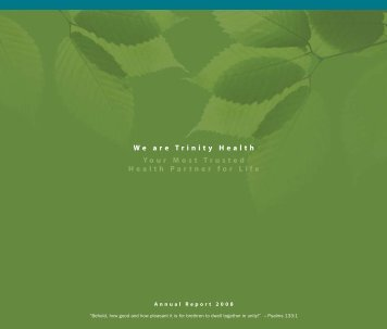Trinity Health Annual Report 2008