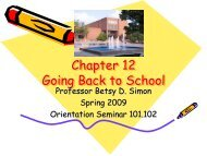 Chapter 12 Going Back to School - Coppin State University