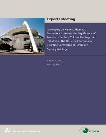 20th Century Historic Thematic Framework Expert Meeting 2011 ...