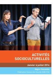 Brochure activités socioculturelles 2014 - FSS Fédération Suisse ...