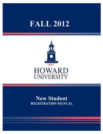 Registration Manual (New Students) - Howard University