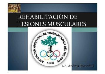 Rehabilitación de lesiones musculares - Lic. Romañuk