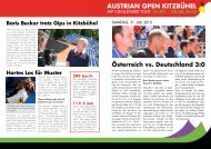 Austrian Open Kitzbühel - News 1. August