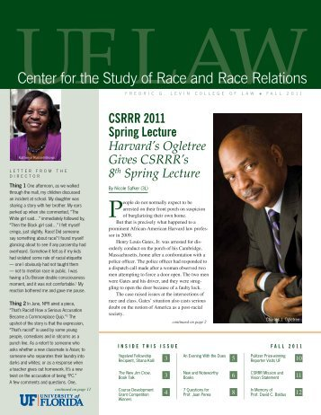 Center for the Study of Race and Race Relations - Levin College of ...