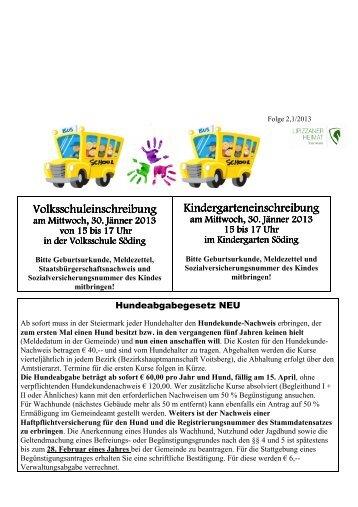 Folge 2, 1/2013 - Gemeinde Söding