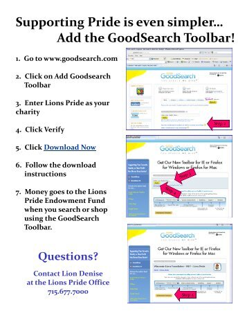 to download (PDF) instructions on using GoodSearch - Lions Pride ...