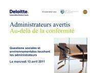 Présentation - Deloitte