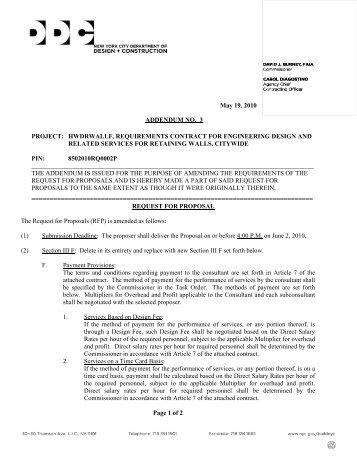 May 19, 2010 ADDENDUM NO. 3 PROJECT: HWDRWALLF ...