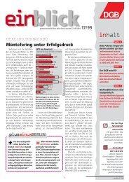 POLITIK AKTUELL - Einblick-archiv.dgb.de - DGB