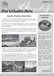 Der Urlaubs-Bote - Alpenhof Filzmoos