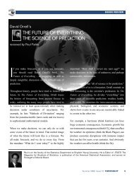 the future of everything: the science of prediction - International ...