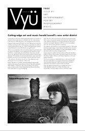 Cutting-edge art and music herald Lowell's new ... - Vyu Magazine