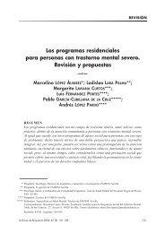 Los programas residenciales para personas con trastorno mental ...
