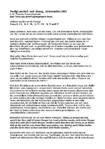 Predigt am Bu - und Bettag, 13.November DFFG in St ... - Johannes