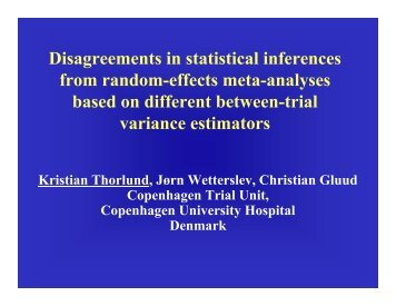 Disagreements in statistical inferences from random-effects meta ...