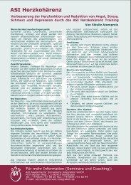 ASI Herzkohärenz - Herzkohärenz HRV-Biofeedback