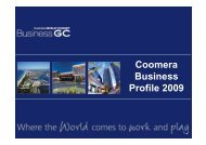 Coomera Business Profile 2009 - Business Gold Coast