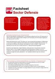 Factsheet Sector Defensie - ProDef