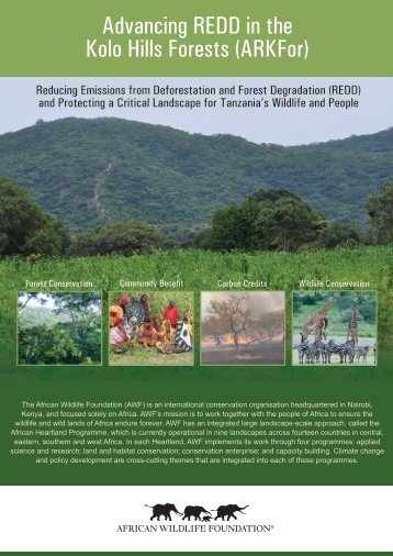 Advancing REDD in the Kolo Hills Forests (ARKFor) - African Wildlife
