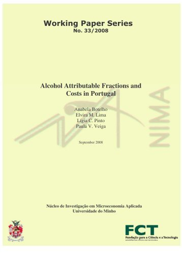 Alcohol Attributable Fractions and Costs in Portugal - Universidade ...