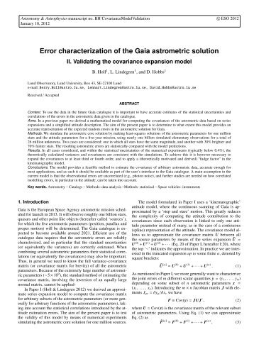 Error characterization of the Gaia astrometric ... - Lund Observatory