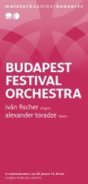budapest festival ORCHestRa - Meister & Kammerkonzerte