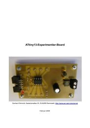 Instruction Set ATtiny13 - AVR-Assembler-Tutorial