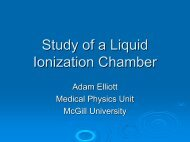 Liquid Ionization Chamber - McGill Medical Physics Unit