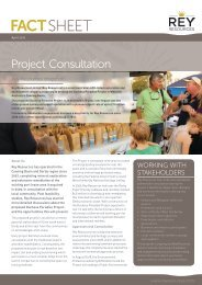 RY41a Fact Sheet - Project Consultation April 2012 - Rey Resources