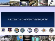 patient movement response - The 2012 Integrated Medical, Public ...