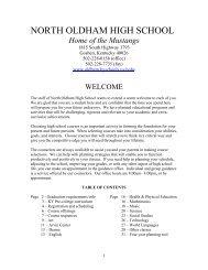 2012-13 Course Guidebook - Oldham County Schools