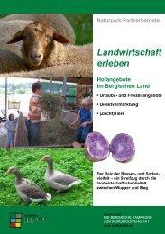 Landwirtschaft erleben - Naturpark Bergisches Land
