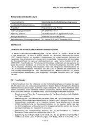 Formblatt Sachbericht