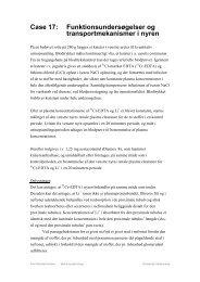 Case 17: Funktionsundersøgelser og ... - Gyldendal