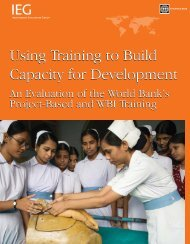 Using Training to Build Capacity for Development - World Bank ...