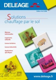Solutions Deléage - DEVI iFrame France - Danfoss