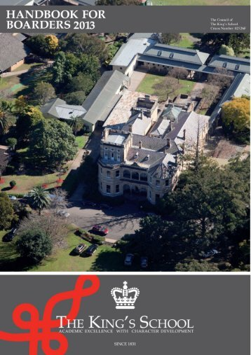 Handbook for Boarders 2013 - The King's School