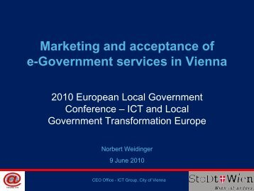 Marketing and acceptance of e-Government services in Vienna