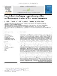 Impact of selective logging on genetic composition ... - ResearchGate