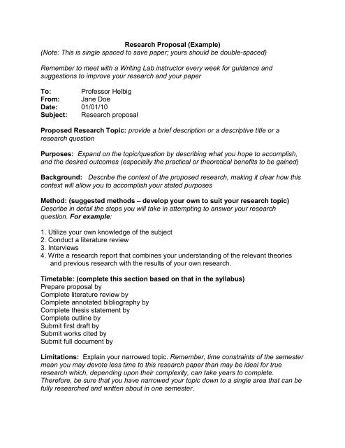 Help with my chemistry research proposal