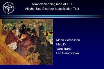 Alkoholscreening med AUDIT