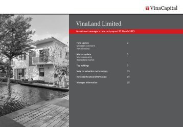 VNL Q1 2013 report - VinaCapital