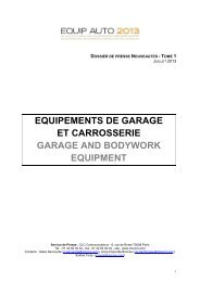 equipements de garage et carrosserie garage and bodywork ...