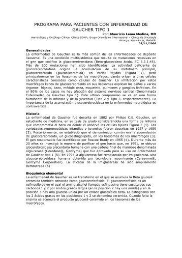 Protocolo de manejo de Enfermedad de Gaucher - Oncología ...