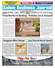Jan 2009 - Salem Business Journal