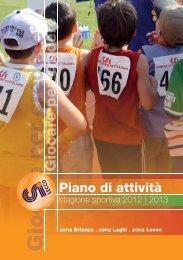 Scarica il Piano Attività stagione sportiva 2012-13 - CSI Lecco
